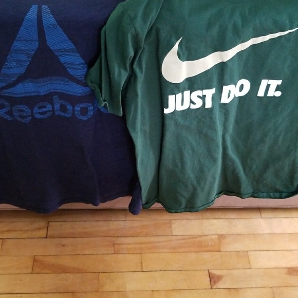 Nike and Reebok tees
